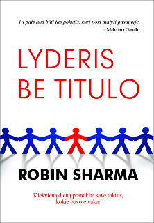 "Knygos ""Lyderis be titulo"" viršelis"